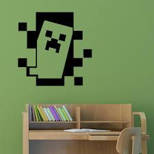 deco chambre minecraft stickers muraux pour les enfants sticker minecraft creeper