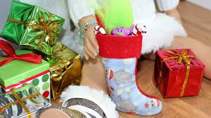Christmas Stocking Decorations Diy American Doll Christmas Stockings Youtube