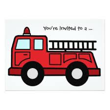 firetruck invitations u0026 announcements zazzle com au