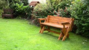 convertible diy outdoor foldable picnic table bench on green grass