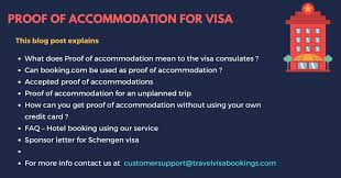 Invitation Letter Hotel Reservation proof of accommodation for visa application updated 2018