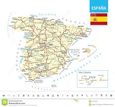 Map Of Seville Spain by Detailed Map Of Spain Stock Vector Image 57272294