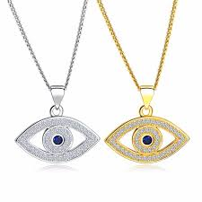 silver eye necklace images Blue evil eye necklace celebrity cz necklace third eye necklace jpg