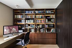 Home Office Library Design Brucallcom - Home office library design ideas