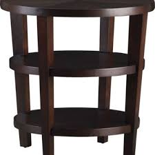 crate and barrel accent tables crate barrel galerie round brown wood side table in lower
