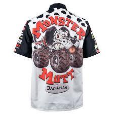 monster mutt dalmatian driver shirt