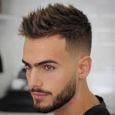 coupe cheveux homme 92 cheveux hérissés dégradé haut barbe déconnectée top
