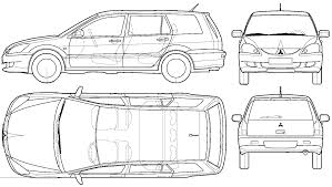 mitsubishi evo drawing mitsubishi car blueprints die autozeichnungen les plans d