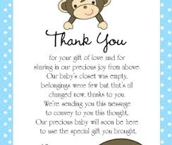 gift card shower invitation gift card baby shower invitation wording thank you monkey