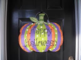 pumpkin painted burlap door hanger fall door decoration fabric