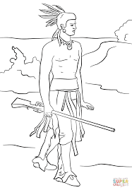 squanto coloring free printable coloring pages