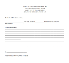 doctor excuse template u2013 9 free sample example format download