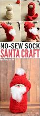 no sew sock santa craft easy peasy and fun