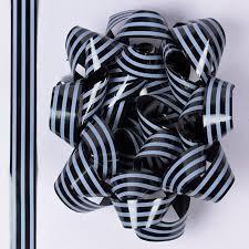 black and white striped ribbon black white stripe luxury bow ribbon set only 99p