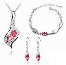 fashion design necklace images Fashion design luxury cz diamond crystal jewelry drop earring jpg