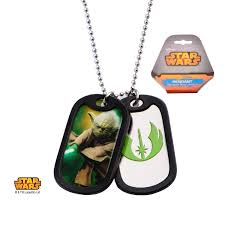 necklace with pendant length images Yoda with rubber silencer double dog tag pendant necklace jpg