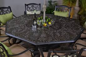 Patio Furniture Cast Aluminum Home Design Good Looking Octagonal Table Outdoor Sherwood By