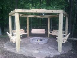 Firepit Swing Patio Pit With Swing Brecksville Baron Landscaping