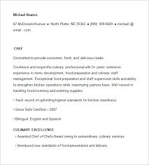 Resume Templates And Examples by Chef Resume Template U2013 11 Free Samples Examples Psd Format