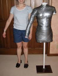 savvy housekeeping dress form out of duct tape
