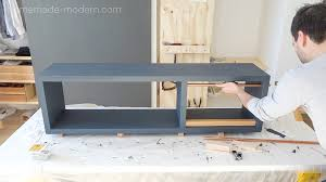 homemade modern ep90 diy media console modern stepfourteen mid century cabinet