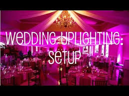 uplighting wedding wedding uplighting setup in banquet