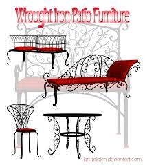 wrought iron patio furniture by brutalbich on deviantart
