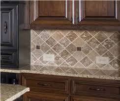 subway tiles with mosaic accents backsplash with tumbled