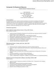 computer programmer resume examples free entry level puter