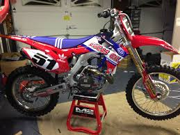 lucas ama motocross 2013 crf 450 all red plastic kit with custom lucas oil graphics