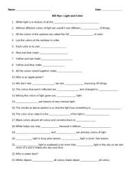 light me up math worksheet answers video worksheet movie guide for bill nye light and color bill