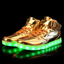 large size 35 46 led shoes 2016 fashion luminous lights up usb