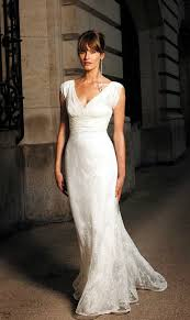 second wedding dresses 40 lace v neck wedding dress for brides 40 50 60