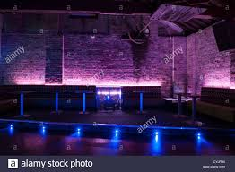 night club dance floor and seating interior design stock photo