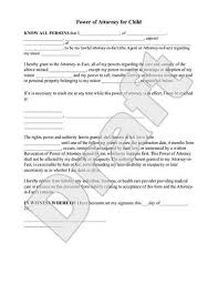 authorization letter for grandparent power of attorney for child form rocket lawyer