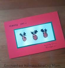 easy kids christmas hand and foot print art ideas enchanted