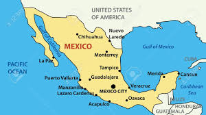Map Of Us And Mexico by Map Of The States Of Mexico You Can See A Map Of Many Places On