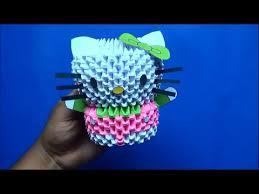 cara membuat origami hello kitty 3d origami 3d hello kitty loopit