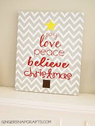 Ginger Home Decor by Ginger Snap Crafts Easy Knock Off Christmas Art Tutorial