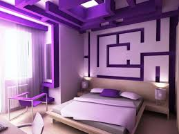Light Purple Color by Purple Color Of Bedroom Decorations With Low Bed Design Style Also