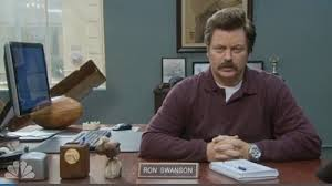 Ron Swanson Circle Desk Episode Tv Archives A Word Or Two