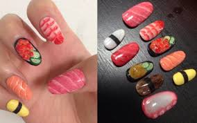 it u0027s true sushi nail art is the weirdest trend of the year so