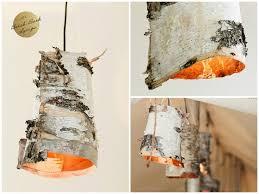 Diy Pendant Lights Diy Birch Bark Wood Pendant Lighting Id Lights