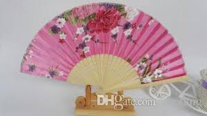 held fan 7 pretty silk floral folding held fan wedding party favor
