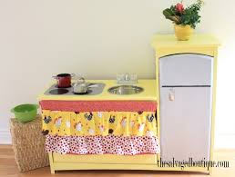 Baby Kitchens Upcycled Sunny Kids Play Kitchen The Salvaged Boutique