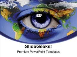 eye world earth powerpoint template 0910 powerpoint presentation