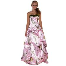 pink camo wedding gowns realtree wedding dresses pink salecards org