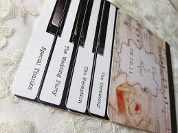 layered wedding programs piano wedding programs or invitations layered vintage piano