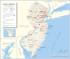 Map Of New York City Area by Map Of New Jersey World Map