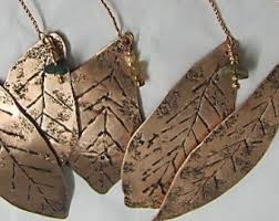 tree ornaments robin ornaments bird ornaments copper bird